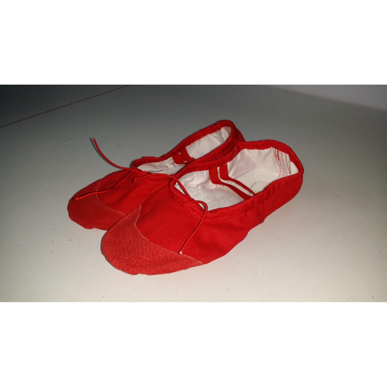 Opincuțe balet alb/negru/roșu